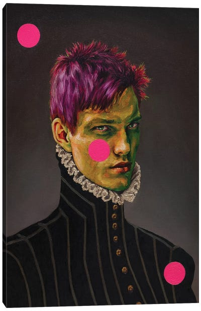 Portrait Of A Young Green Man Canvas Art Print