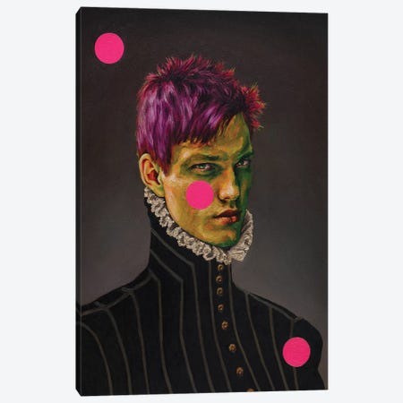 Portrait Of A Young Green Man Canvas Print #OBA137} by Oleksandr Balbyshev Canvas Wall Art