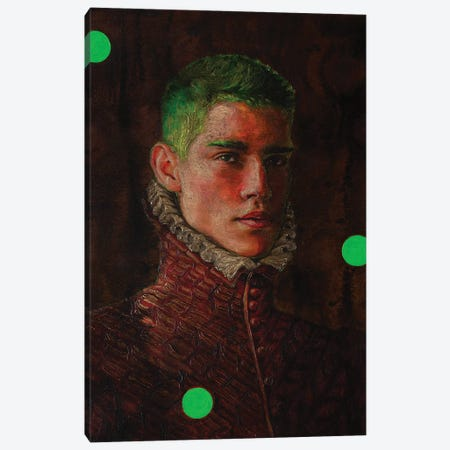 Portrait Of A Young Man In Red Canvas Print #OBA138} by Oleksandr Balbyshev Art Print