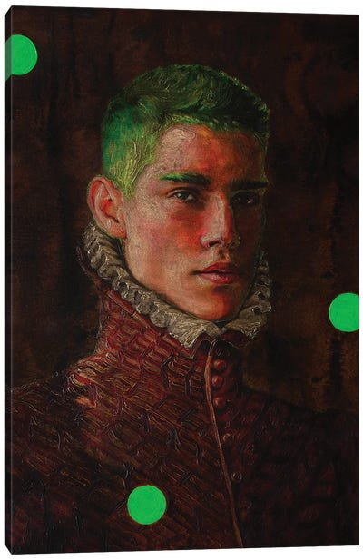 Portrait Of A Young Man In Red Canvas Art Print