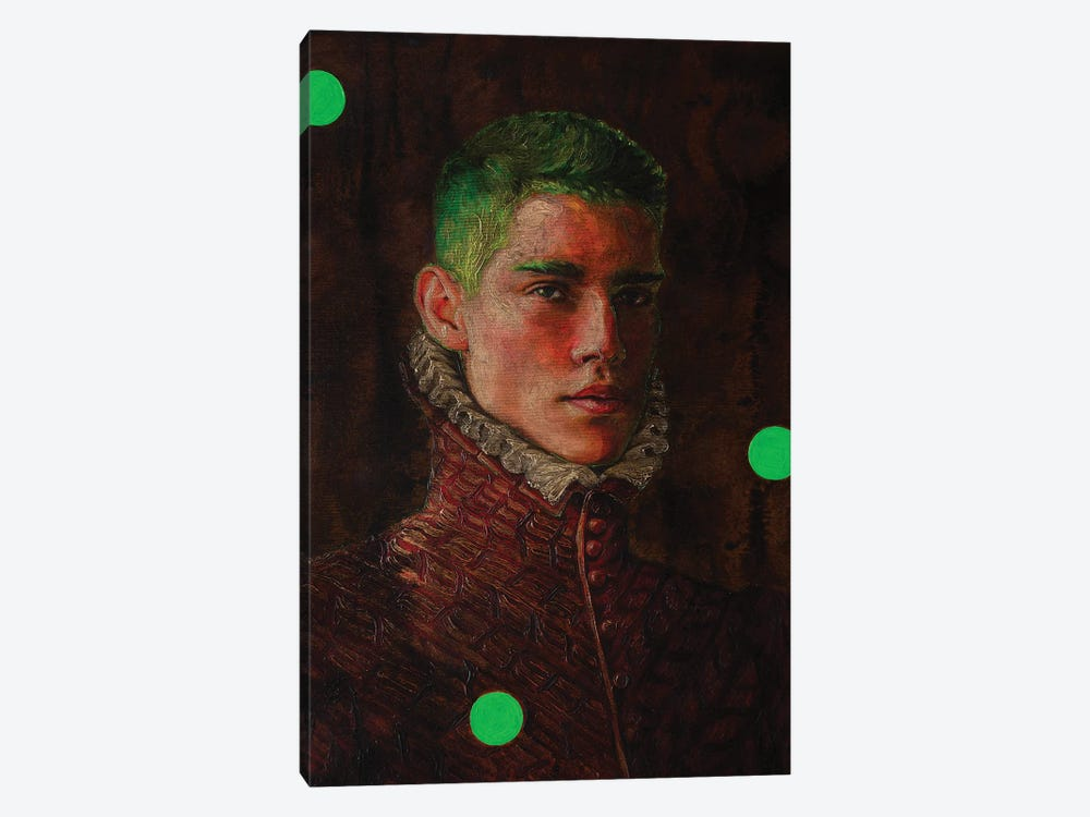Portrait Of A Young Man In Red by Oleksandr Balbyshev 1-piece Canvas Print