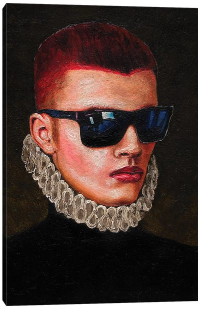 Portrait Of A Young Man In Sunglasses Canvas Art Print