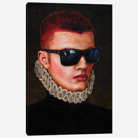 Portrait Of A Young Man In Sunglasses Canvas Print #OBA139} by Oleksandr Balbyshev Canvas Art Print