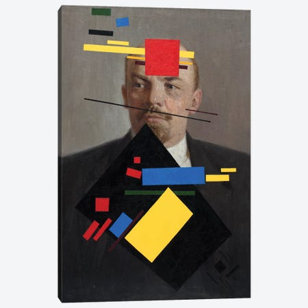 Suprematist Lenin 3-Piece Canvas #OBA146} by Oleksandr Balbyshev Art Print