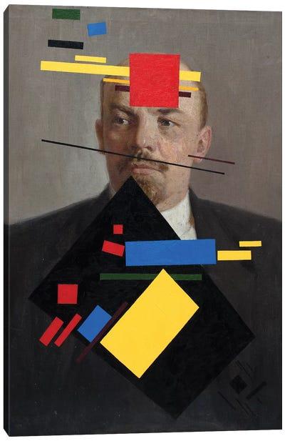 Suprematist Lenin Canvas Art Print