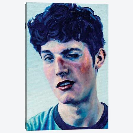 Blue Hair Boy Canvas Print #OBA14} by Oleksandr Balbyshev Canvas Wall Art