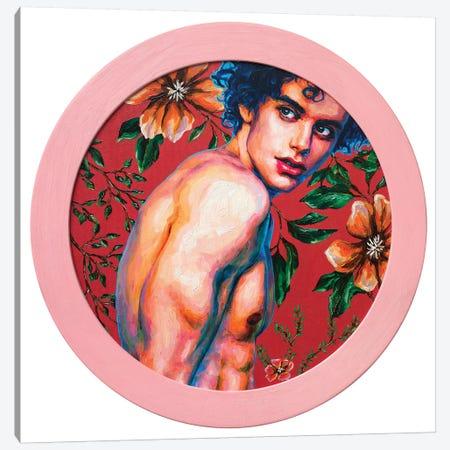 Boy On A Red Background I Canvas Print #OBA154} by Oleksandr Balbyshev Canvas Art
