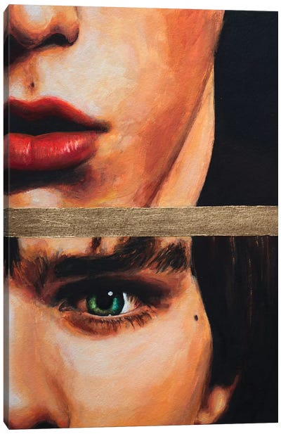 Gold Stripe Canvas Art Print