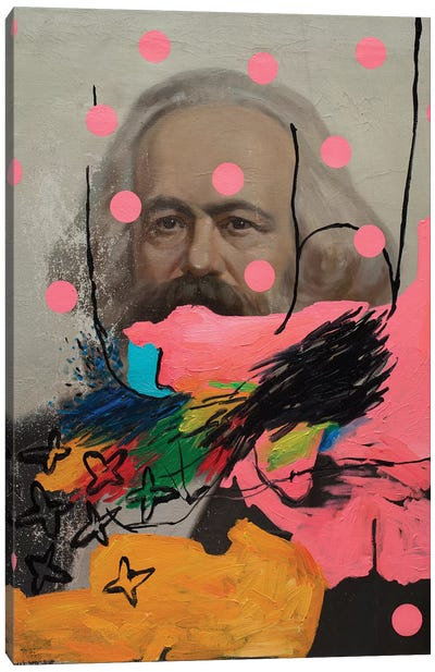 Mysterious Marx Canvas Art Print