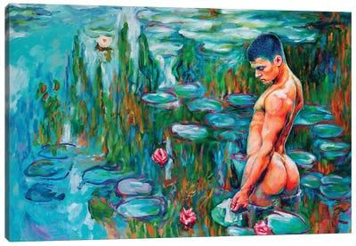 Let's Swim Naked! Canvas Art Print