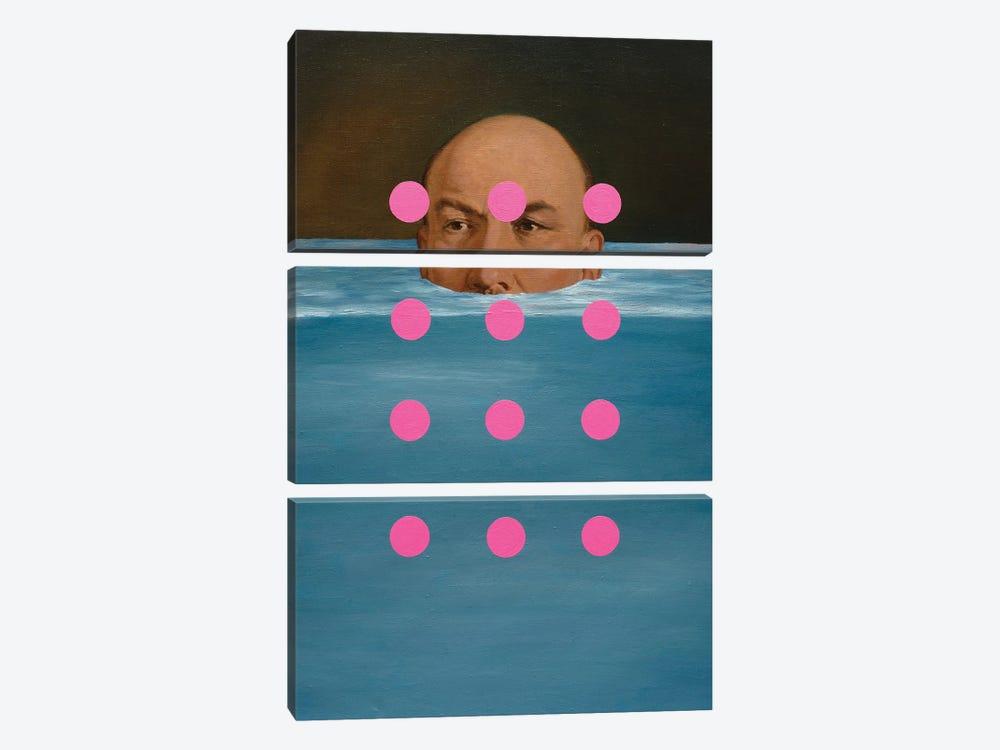 Submerged Lenin by Oleksandr Balbyshev 3-piece Canvas Art Print