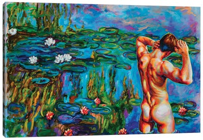 Skinny Dipping Sunday Canvas Art Print