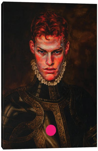 Portrait Of A Young Knight Canvas Art Print