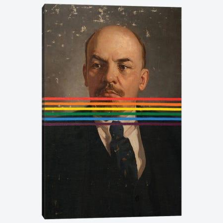 Rainbow Lenin Canvas Print #OBA215} by Oleksandr Balbyshev Art Print