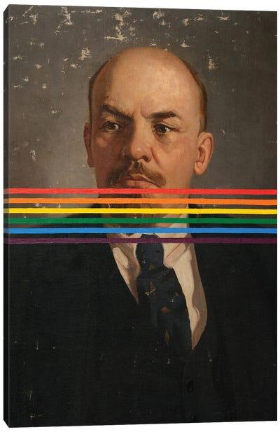 Rainbow Lenin Canvas Art Print