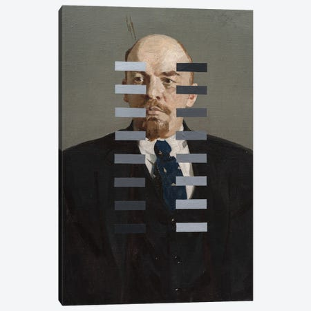 Recalibration Of Lenin Canvas Print #OBA221} by Oleksandr Balbyshev Art Print
