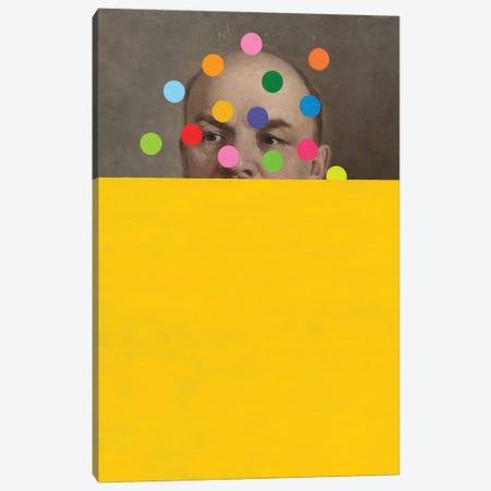 Semi Yellow Lenin Canvas Print #OBA223} by Oleksandr Balbyshev Canvas Print