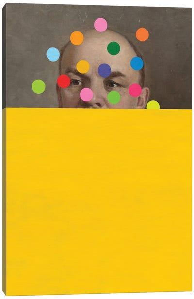 Semi Yellow Lenin Canvas Art Print
