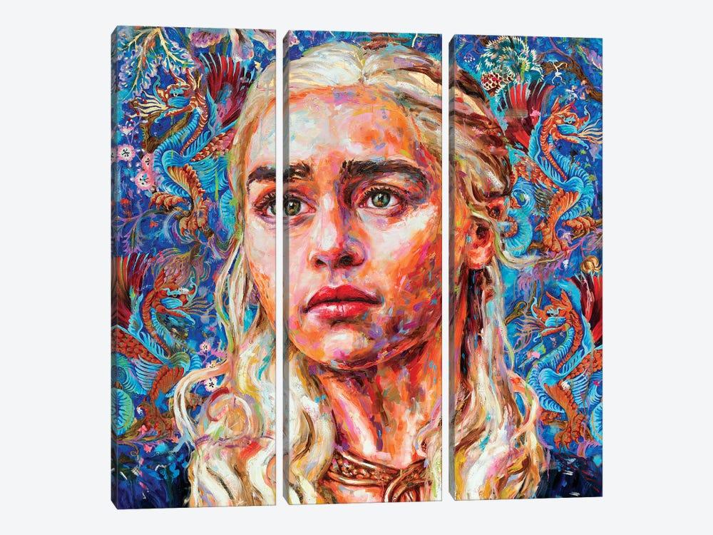 Daenerys by Oleksandr Balbyshev 3-piece Canvas Print