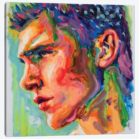 Face Study V Canvas Print #OBA29} by Oleksandr Balbyshev Canvas Artwork