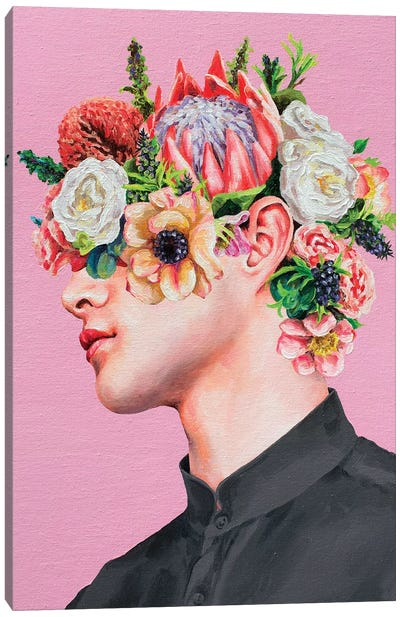 Flower Face II Canvas Art Print