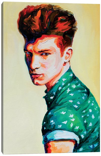 Guy In A Green Shirt Canvas Art Print