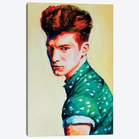 Guy In A Green Shirt Canvas Print #OBA48} by Oleksandr Balbyshev Canvas Art