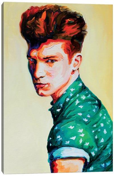 Guy In A Green Shirt Canvas Art Print