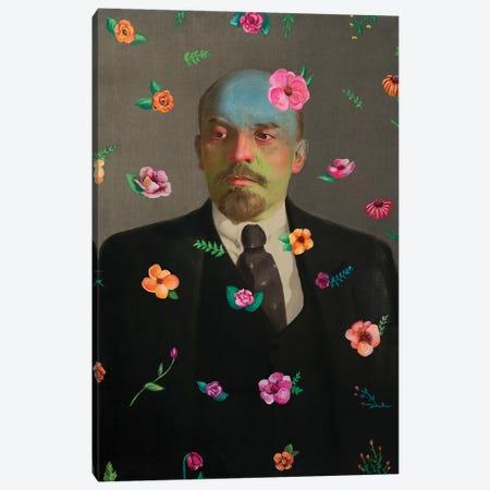 Lenin With Flowers Canvas Print #OBA59} by Oleksandr Balbyshev Canvas Print