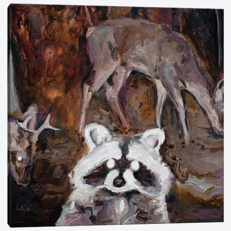 Nocturnal Animals II Canvas Print #OBA68} by Oleksandr Balbyshev Canvas Art