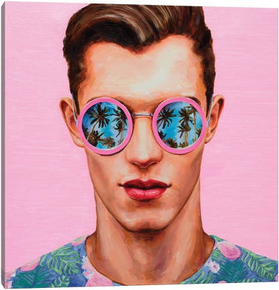 Pink Sunglasses Canvas Art Print