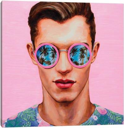 Pink Sunglasses Canvas Art Print