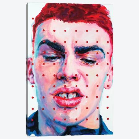 Red Dots Canvas Print #OBA81} by Oleksandr Balbyshev Canvas Art
