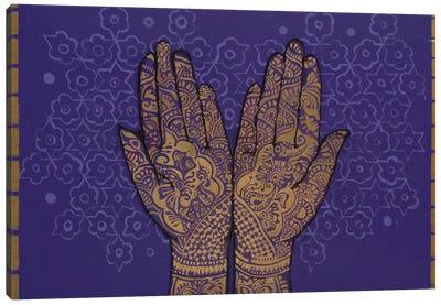 Golden Palms Canvas Art Print