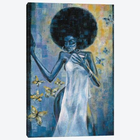 Afro Blue Canvas Print #OBJ3} by Jason O'Brien Canvas Art Print