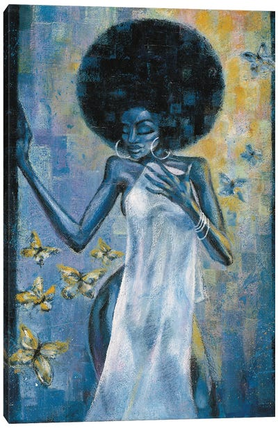 Afro Blue Canvas Art Print