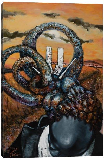 Blue Serengeti Canvas Art Print