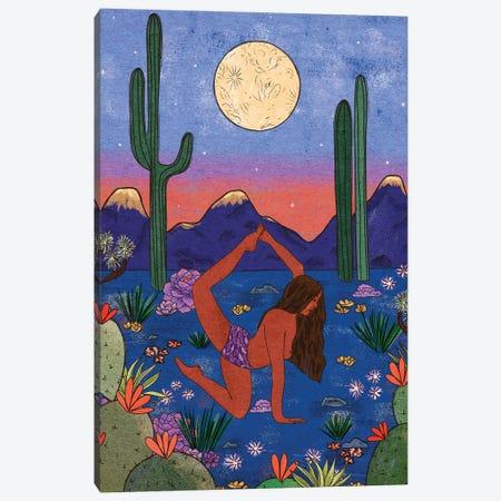 Desert Yoga Canvas Print #OBK10} by Olivia Bürki Canvas Print