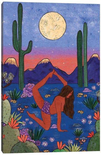 Desert Yoga Canvas Art Print