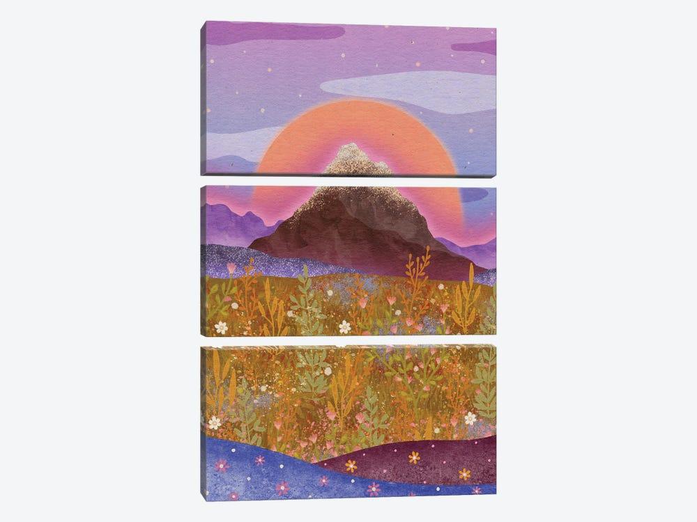 Flower Alp by Olivia Bürki 3-piece Canvas Print