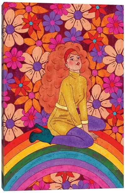 Flower Power Babe Canvas Art Print