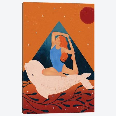 Beluga Girl Canvas Print #OBK1} by Olivia Bürki Canvas Art