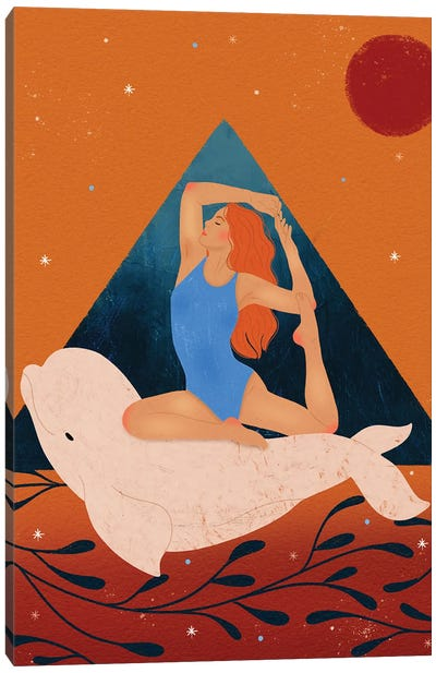Beluga Girl Canvas Art Print