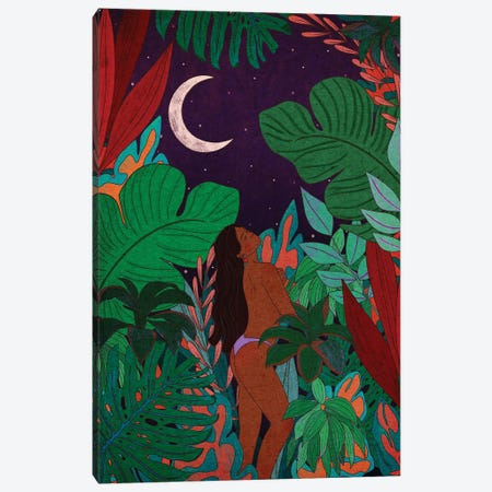 Jungle Beauty Canvas Print #OBK25} by Olivia Bürki Art Print
