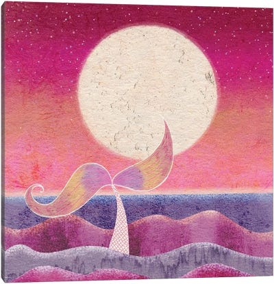 Mermaid Moon Canvas Art Print