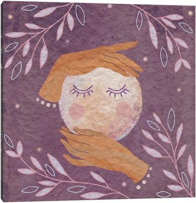 Moon In Her Hands Canvas Art Print