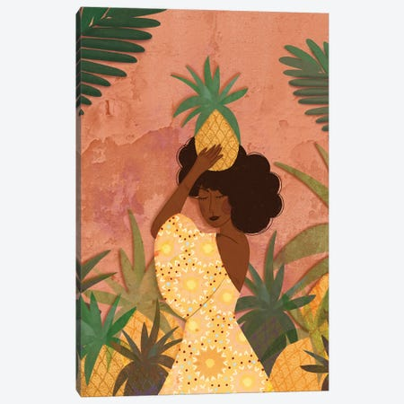 Pineapple Harvest Canvas Print #OBK35} by Olivia Bürki Canvas Artwork