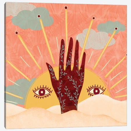 Spiritual Sun Canvas Print #OBK37} by Olivia Bürki Canvas Artwork