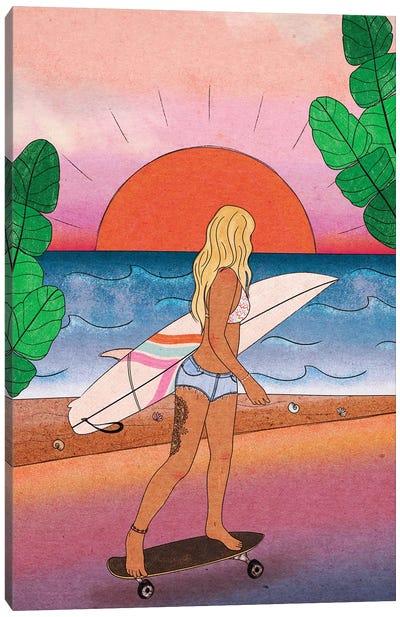 Surfer Girl Canvas Art Print