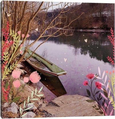 The Green Boat Canvas Art Print
